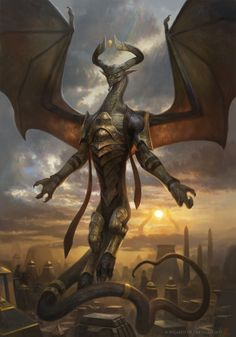 "Dragon-Mythical Being-Scales-Winged Reptile. Find more on the ""Creativity+Fantasy"" board. Fantasy Creatures, Mythical Creatures, Figurine Dragon, Mtg Art, Dragon King, Dragon Artwork, Monster Design, Fantasy Dragon, Fantasy Illustration"