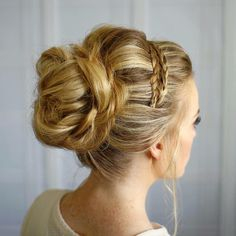 love the braided headband on this bridal updo!  ~  we ❤ this! moncheribridals.com