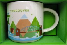 Starbucks City Mug You Are Here In Vancouver