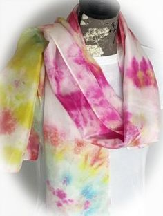 Silk! We've hand dyed a selection of 100% silk scarves perfect for everyday wear. Add a splash of color to any outfit and make today a special one! We've grouped the scarves below by size/shape. Because these scarves are hand dyed, you'll want to click on the images to see additional angles and colors found... View Article