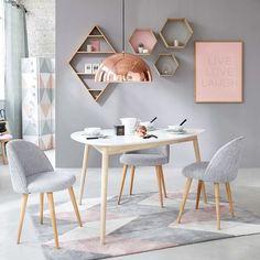 Mesa de comedor escandinava blanca L150 | Maisons du Monde