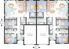 Any Style House Plans - 2868 Square Foot Home, 1 Story, 6 Bedroom and 4 3 Bath, 2 Garage Stalls by Monster House Plans - Plan 3 Bedroom Floor Plan, House Plans 3 Bedroom, Garage House Plans, Family House Plans, Best House Plans, Country House Plans, Small House Plans, Car Garage, Duplex Floor Plans