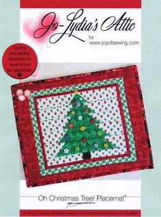 Looking for your next project? You're going to love Oh Christmas Tree! Placemat by designer Barbara Weiland. - via @Craftsy