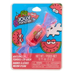 This watermelon flavored lip balm is shaped like a fruity Jolly Rancher. Keep lifts smooth in fun style with this flavored lip balm. Best Lip Balm, Diy Lip Balm, Chapstick Lip Balm, Gloss Labial, Candy Lips, Nice Lips, Pink Lip Gloss, Jolly Rancher, Lip Care