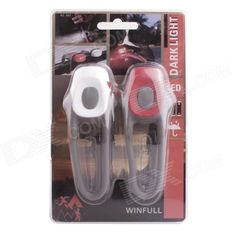 Bicycle LED Cobra Style Silicone Safety Light - Grey   White   Red Price: $5.40