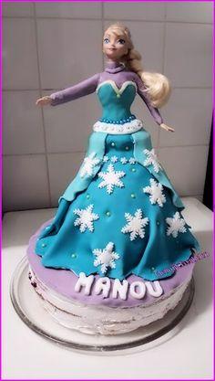 Frozen Elza taart