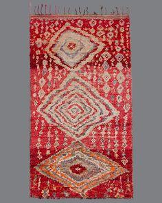 vintage Moroccan rug, Boujad #BJ04