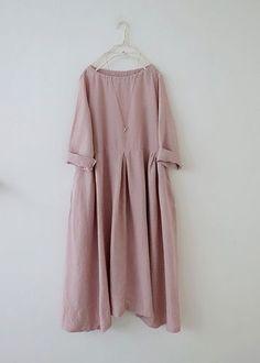 핑크 주름 린넨원피스 in 2020 Iranian Women Fashion, Muslim Fashion, Simple Dresses, Casual Dresses, Fashion Dresses, Linen Dresses, Cotton Dresses, Clothing Patterns, Dress Patterns