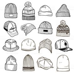 Find Set Fashion Mens Caps Hats Sketches stock images in HD and millions of other royalty-free stock photos, illustrations and vectors in the Shutterstock collection. Cap Drawing, Body Drawing, Drawing Hats, Fashion Design Sketchbook, Fashion Design Drawings, Drawing Fashion, Art Drawings Sketches Simple, Pencil Art Drawings, Drawing Anime Clothes