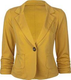 FULL TILT 1 Button Womens Ponte Blazer