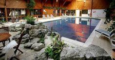 Indoor swimming pool at McDonald Dalfarber resort in Aveimore Scotland