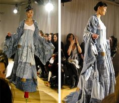 Recycled denim jeans coiture
