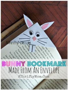 491Envelope Bunny Bookmark