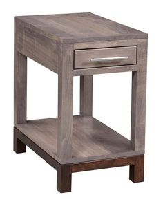 Amish Vienna Chair Side Table The perfect little contemporary table. The Vienna is Amish made in America. Pick wood, stain and hardware and enjoy a fine look for living room. #sidetable #accenttable #contemporarytables