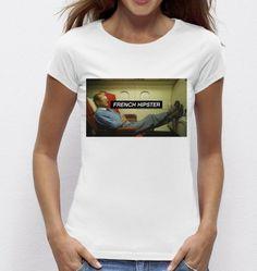 #Tshirt #French #Hispter - Exclu #Madametshirt  -  Dispo ici : http://www.madametshirt.com/fr/tshirts/1608-top-blanc-french-hipster.html #tee-shirt #top #chirac