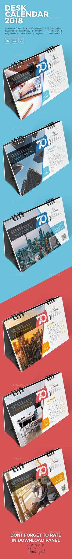 Creative Desk Calendar This is 12 Months Cover Unique & Modern Calendar Template, Very easy to use and customize with 2 Co Calendar 2019 Design, Calendar 2018, Fashion Design Template, Design Templates, Desk Calender, Corporate Stationary, All Fonts, Stationery Design, Creative Design
