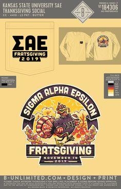 Sigma Alpha Epsilon Thanksgiving Shirt | Fraternity Event | Greek Event #sigmaalphaepsilon #sae #thanksgiving
