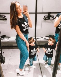 Translated version of test. Mother Son Matching Outfits, Mom And Son Outfits, Baby Boy Outfits, Kids Outfits, Mommy And Son, Mom Son, Toddler Boy Fashion, Kids Fashion, Baby Tumblr