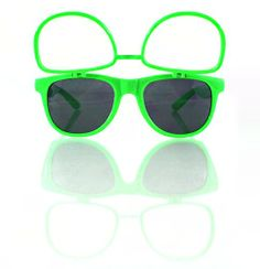 Green Sunglasses W/ Flip Up Diffraction Lenses - Wayfarer Inspired - Highest Quality Diffraction Effect available! The Rave Review LLC http://www.amazon.com/dp/B00KSNT22Q/ref=cm_sw_r_pi_dp_78sMtb1FBT1HBJ0D