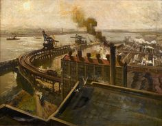Ford Thames Foundry, Terence Cuneo (1907-1996)