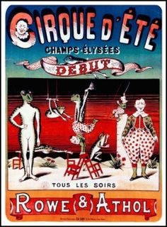 French Circus Poster Art