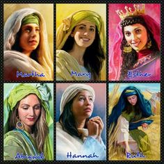 God fearing women of the Bible. Examples for us today.