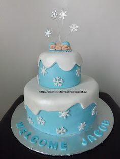 Snow Globe baby shower cake. Baby Shower cakes ...