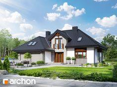 projekt - Dom w kalateach 3 [ ] Dream House Exterior, Pent House, Home Fashion, House Plans, Villa, Cottage, House Design, Cabin, House Styles