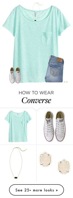 """goodmorning"" by secfashion13 on Polyvore featuring H&M, Hollister Co., Kendra Scott and Converse"