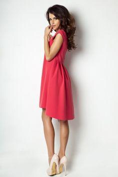 IVON Asymetryczna sukienka model 184
