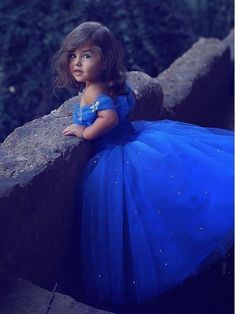 Said Mhamad Royal Blue Princess Flower Girl Dresses Puffy Tutu Sparkly Crystals 2018 Toddler Little Girls Pageant Dresses Little Girl Pageant Dresses, Girls First Communion Dresses, Princess Flower Girl Dresses, Tulle Flower Girl, Wedding Flower Girl Dresses, Flower Dresses, Girls Dresses, Baby Flower, Pageant Gowns