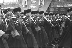 Cossacks serving in the Red Army during WWII.