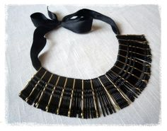 Bobby pins necklace