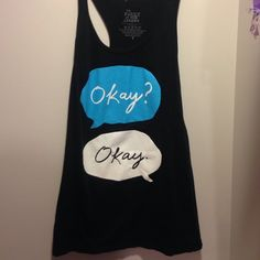 Fault in our Stars tank Brand new, never worn. The tags are not on it. Great for working out. Make an offer Hot Topic Tops Tank Tops