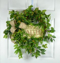 Hey, I found this really awesome Etsy listing at https://www.etsy.com/listing/278840658/religous-door-wreaths-summer-wreath