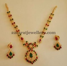 Jewellery Designs: Colorful Cubic Zircons Set