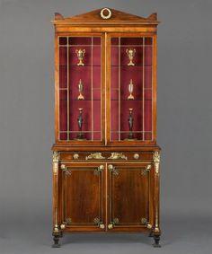 A Regency Period Rosewood & Ormolu Mounted Secretaire Cabinet - English circa 1810