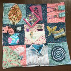 Fidget Quilt/Sensory Blanket- Blossoms and Blooms