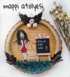 290 Takipçi, 182 Takip Edilen, 45 Gönderi - Mappi Atölyesi'in (@mappi.atolyesi) Instagram fotoğraflarını ve videolarını gör Pebble Painting, Pebble Art, Stone Painting, Painting On Wood, Clay Projects, Projects For Kids, Board Decoration, Mixed Media Artwork, Frame Crafts