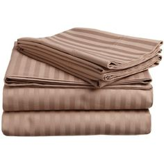 Caterina 600 Thread Count Stripe Egyptian Cotton Sheet Set