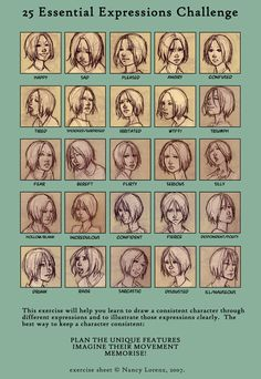 25 expressions meme by Pojypojy on deviantART