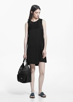 Fluted hem dress - Dresses for Women | MANGO