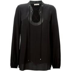 Emilio Pucci lace-up blouse (1,250 CAD) via Polyvore