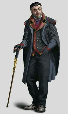 Human Male Investigator - Pathfinder PFRPG DND D&D d20 fantasy