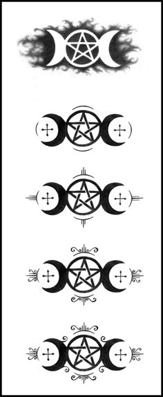 The Triple Moon Symbol Is A Powerful Goddess Symbol Often Used For