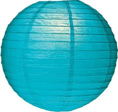 Pool Blue 8 Inch Round Premium Paper Lanterns