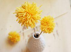 The Plumed Nest: Make: Pom Pom Flowers