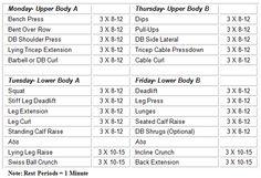 Week 1-4 workout