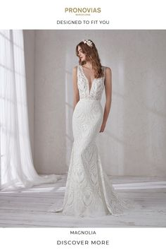 Pronovias wedding dresses at Mia Sposa Bridal boutique. Pronovias knows that every fairy tail has a different leading lady. Simple Lace Wedding Dress, Lace Mermaid Wedding Dress, Mermaid Gown, Mermaid Dresses, Cheap Wedding Dress, Bridal Dresses, Pronovias Wedding Dress, Wedding Gowns, Wedding Suite