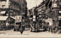 rue du Faubourg-Montmartre - Paris 9ème La rue du Faubourg-Montmartre vers 1900, bondée...